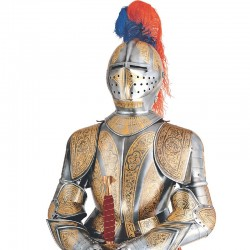Armadura-Medieval_Decorada Oro-Marto_Toledo