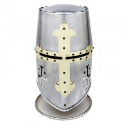 Templar Helmet with Cross
