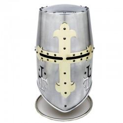 Templar Helmet with Cross