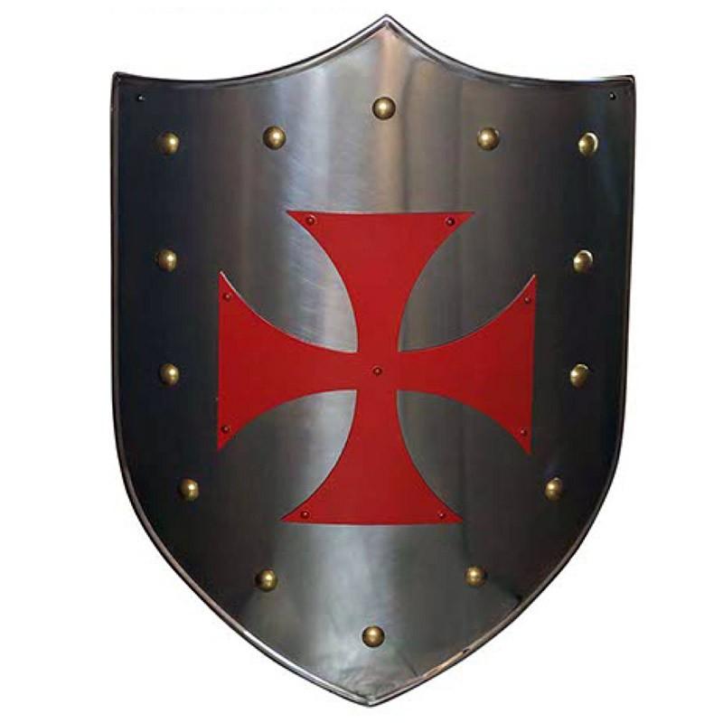 Escudo Medieval-Cruz Templaria Roja_Marto-Toledo