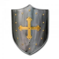 Escudo Medieval-Cruz Templaria Latón_Marto-Toledo